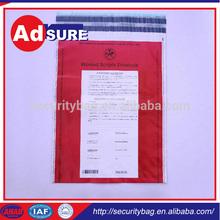 Bank Tamper Evident Security Bag/Secure Courier Bag Wholesaler/Clear Plastic Security Bags