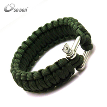 Trendy weaves style paracord braided climbing and camping survival bracelet
