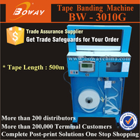 Upright OPP film and Paper Tape Automatic money binder machine