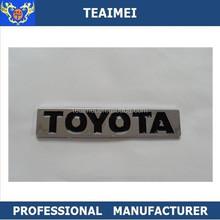Topbest car badges abs plastic black toyota emblem