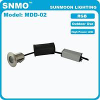 IP67 1x3W Stainless Steel 304 RGB led underground lamp high lumen driveway lighting