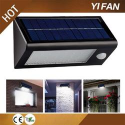 turn automatically decor garden solar light for fence post with high quality