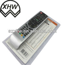 Aluminum panel remote control with backlight