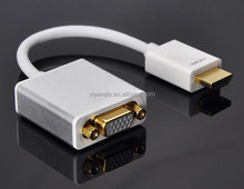 High Quality HDMI TO VGA Adapter Converter Cable For Laptop PC DVD XBOX HDTV Audio Support Male-Female
