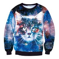 MSS523 men/women harajuku print animal cat pullover 3d hoodies funny galaxy space sweatshirt sudaderas tops clothes