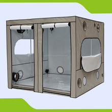 PVC Free 600D Hydroponic Grow Tent for Dark Room Uses 240 x 240 x 215 cm