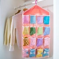 Colorful Hanging Clothing Storage Bag With 16 Pockets