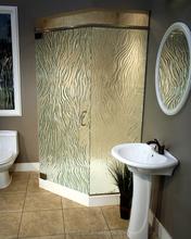 modern shower glass, cast glass shower glass room