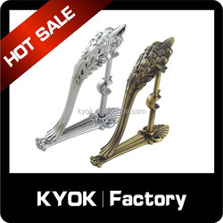 famous Russian style window metal double curtain rod brackets for home decoration