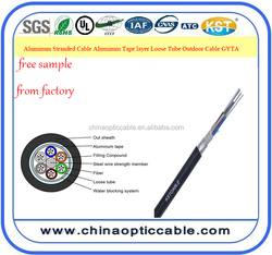 24~144 core Aluminum Stranded Cable Aluminum Tape layer Loose Tube Outdoor Cable GYTA aerial /duct cable from factory price