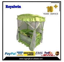 baby playpen with luxury mosquito net,modern baby travel cot