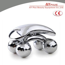Y Shaped Solar Power Silver Face & Body Massager Roller Massager