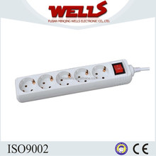 5 ways Germany Type Power Outlet Extension with Switch