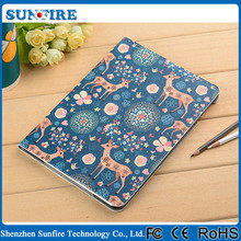 Lovely Cartoon Pattern Flip Leather Case for ipad air, belk case for ipad air, heat resistant case for ipad