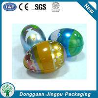 Customized fancy empty metal easter egg tin box
