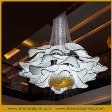 crystal chandelier with flower shape/luxury pendant lamp for hotel