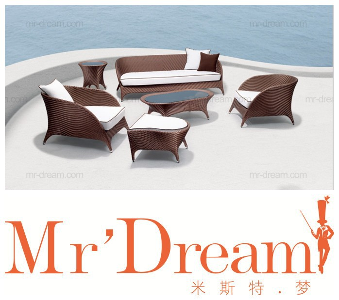Mr Dream Outdoor Furniture Popular Aluminium Rattan Garden