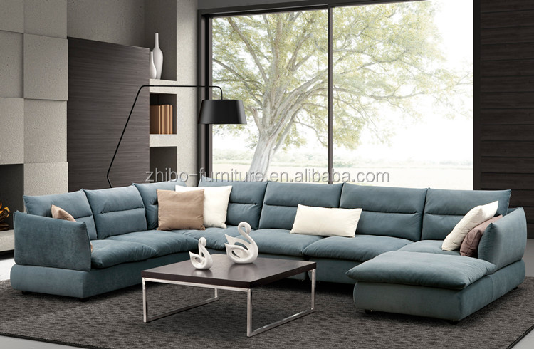 2016 derni re tissu canap conception u en forme sofa for 7 seater living room