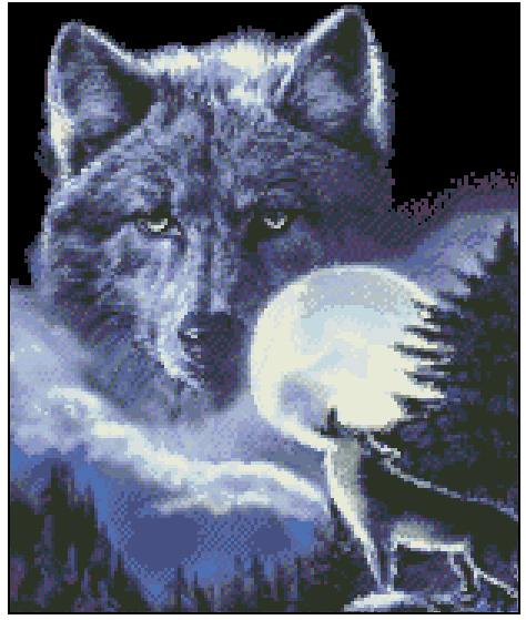 CS-172 cross stitch kit wolf