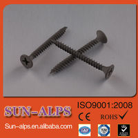 high quality black phosphated/carbon steel self tapping drywall screw