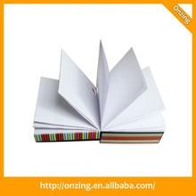 Onzing cubo de papel, de papel memo cubo con bodega de la pluma