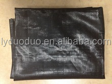 black PP woven ground cover sheeting in plastic bag for controlling weeds