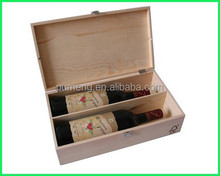 2015 Hot Selling Popular Two Bottle Wooden Wine Packaging Home Decoration