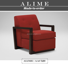 Alime furniture AAC529 wooden red fabric cheap modern lounge chairs