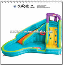 CY-inflatable slide with small hole climbing and a basketball hoop