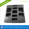 Black PET/PS Disposable plastic tray for electronics component