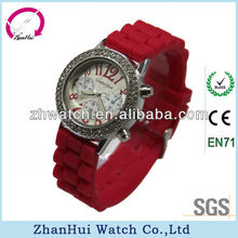2013 Vogue top ring diamond studded silicone watch