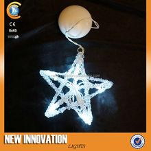 8L White Led Acrylic Star