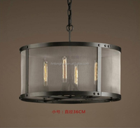 Black color vintage pendant light pendant lamp hot selling in Australia Market