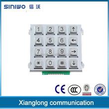 100% zinc alloy keypad for public information inquiry device|keypad for payphone public phone