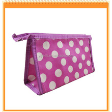 Spotted Cosmetic Bag With Mirror