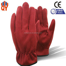 Deerskin Gloves,Synthetic Suede Fabric Ladies Leather Gloves Size 9.5/8.5/10.5