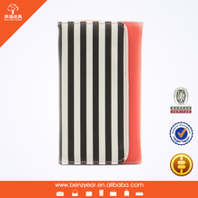 Hot sell fashion design PU leather cell phone cover case wallet for Samsung Note2 Note3