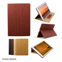 H&H 2015 hot sale wood grain case for ipad leather casing