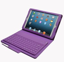 bluetooth foldable keyboard leather case for ipad mini