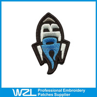 Fashion design Embroidered Patches fishing iron on patches