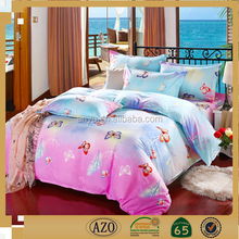 Bed sheet set with all sorts of color of the butterfly and import from china