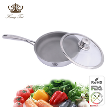 Titanium cookware exclusive with gllass lid for 2015 new design made from compound pure titanium