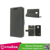 Durable Cloth Leather Stand Case w/ Card Slots for Samsung Galaxy S5 mini SM-G800