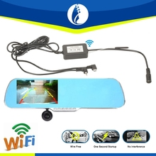 One Second Startup WIRELESS Rearview car DVR Mirror,Rearview Mirror Dvr Car Rear View Mirror With Wireless Parking Camera