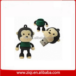 pvc cute animal monkey usb stick 64 gb, pvc monkey shape usb, monkey 1tb usb flash drive 3.0