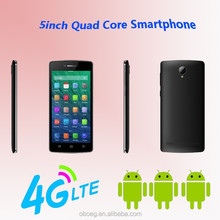 original custom 4g lte 5inch android smart phone with MTK6735 Quad core, mobile with skype, video, call, IPS touch screen