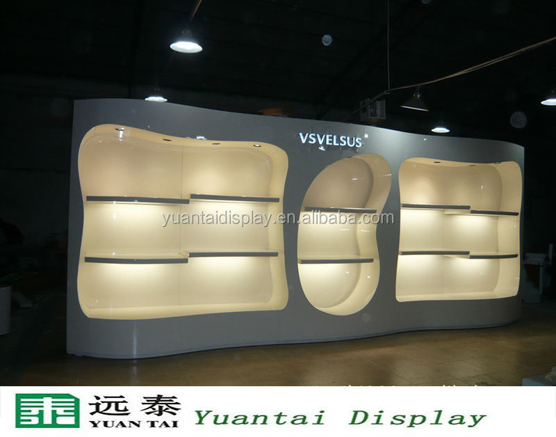 Elegant White Wooden Retail Display Cabinets Furniture For Clothing Store Clothes Shop Counters