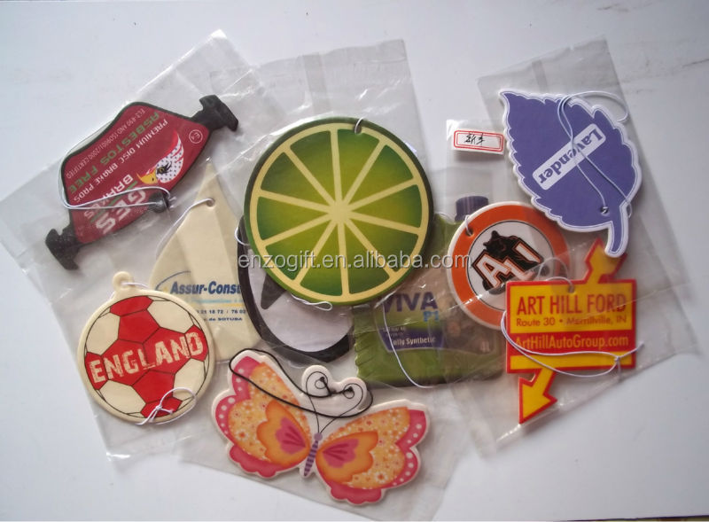 bulk car air freshener for promotion, hanging paper freshener cards, car paper perfume