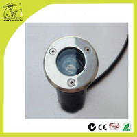 Stable stainless steel ip68 led light in concrete 1w with LVD rubber cable