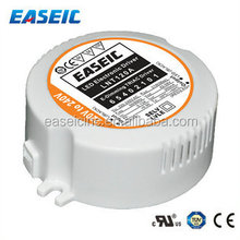 21W led driver 350mA round shape LED Driver Constant Current triac dimming